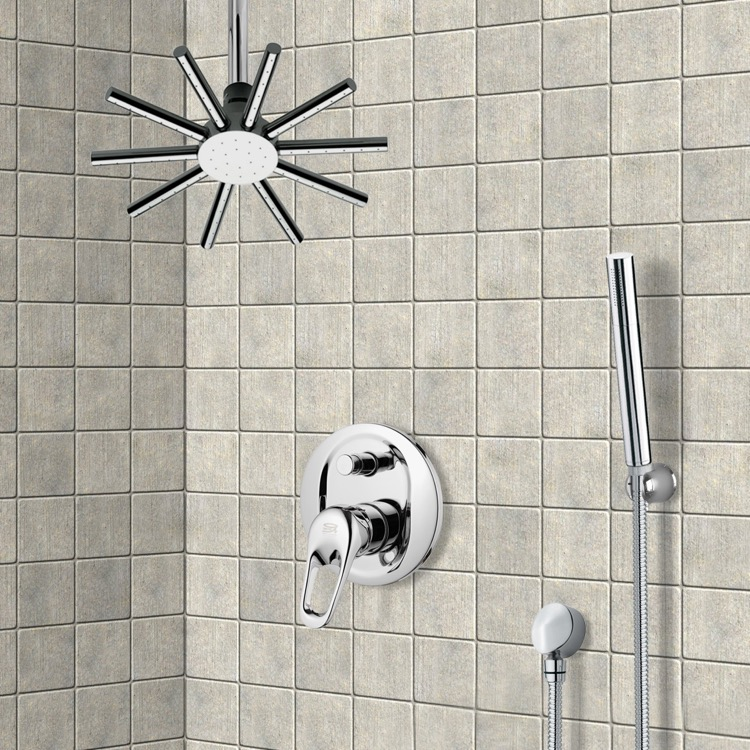 Shower Faucet, Remer SFH6540, Shower System with Ceiling Shower Head and Hand Shower