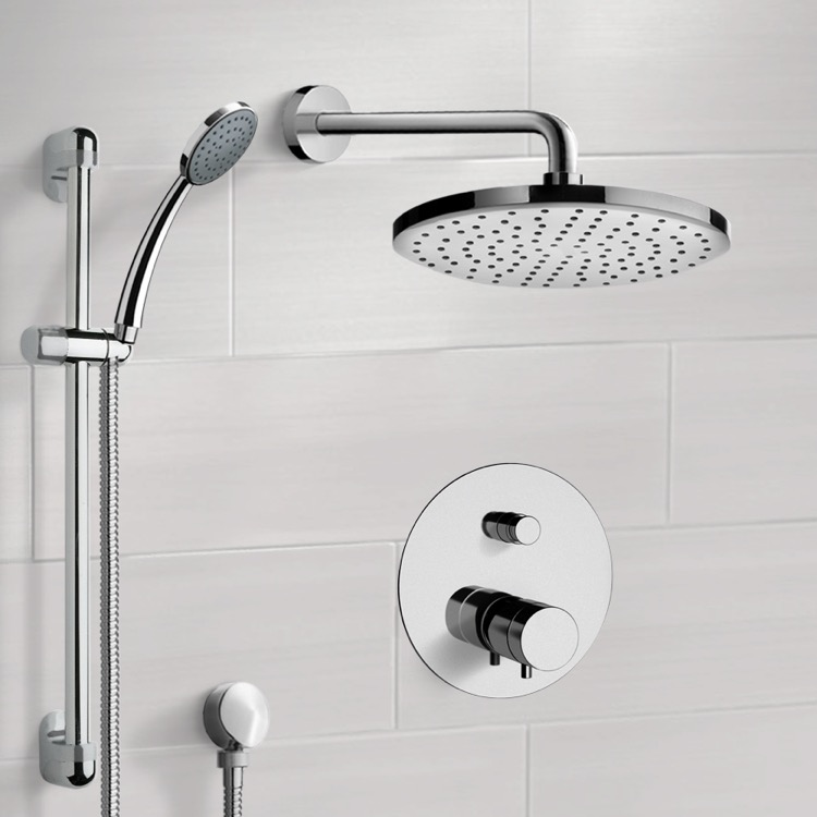 Shower Faucet, Remer SFR04, Chrome Thermostatic Shower System with 8