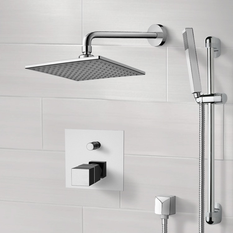 Shower Faucet, Remer SFR08, Chrome Thermostatic Shower System with 8