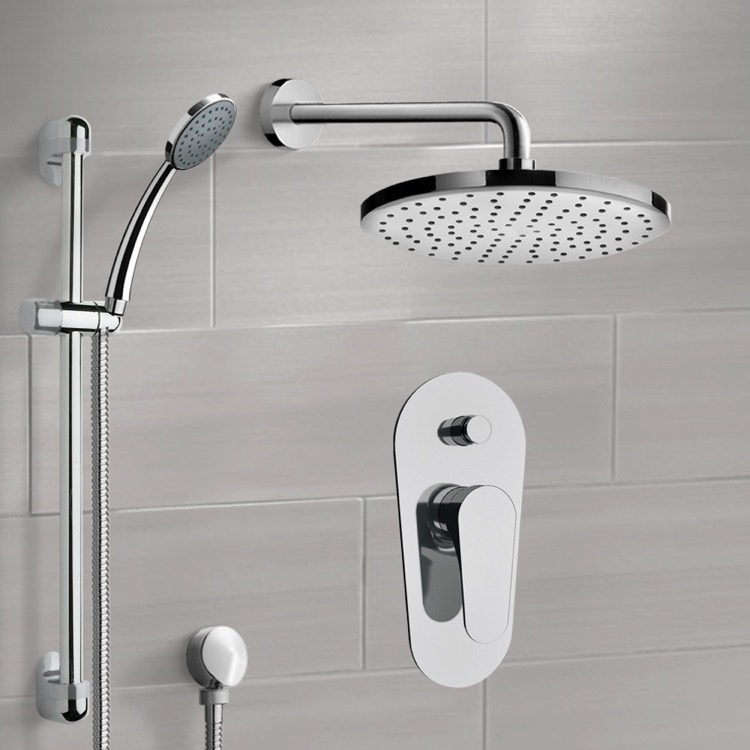 Shower Faucet, Remer SFR09, Chrome Shower System with 8