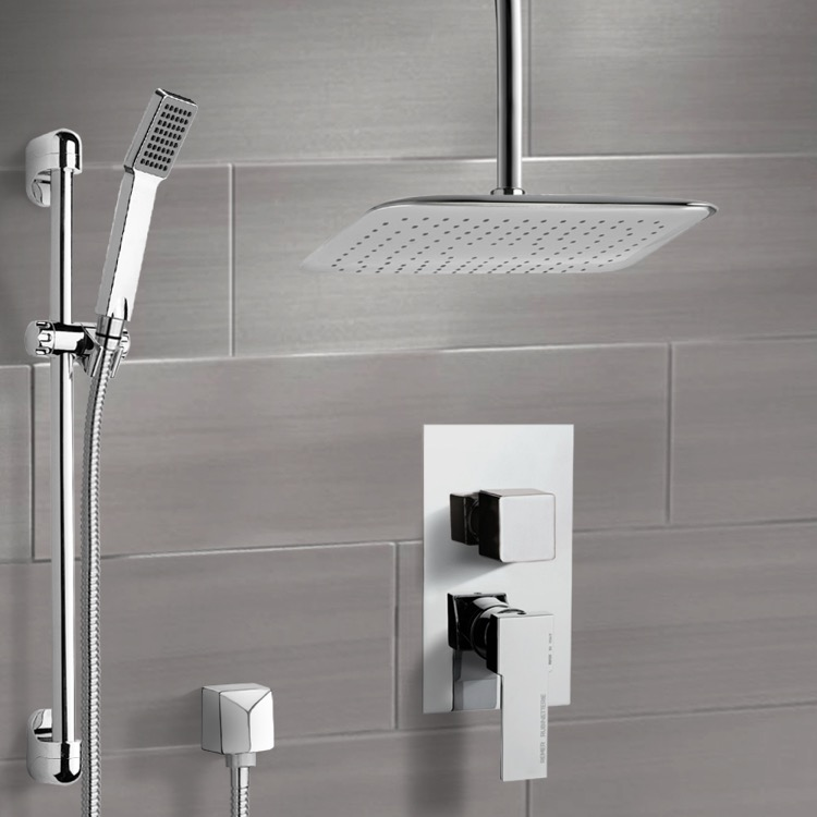 Shower Faucet, Remer SFR7019, Chrome Shower System with Ceiling 14