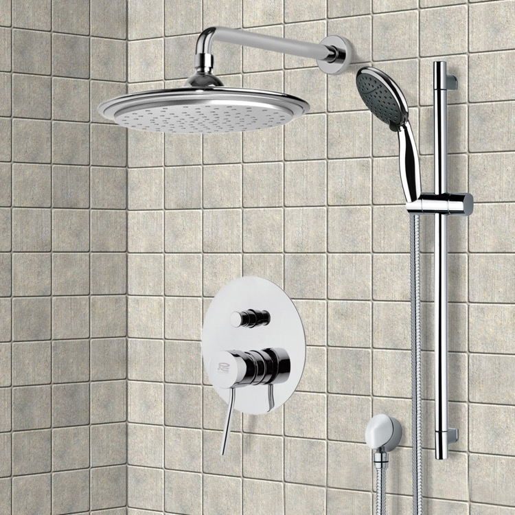 Shower Faucet, Remer SFR7045, Chrome Shower System with 9