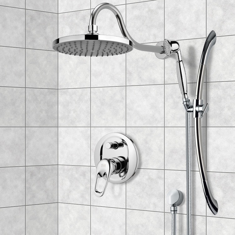 Shower Faucet, Remer SFR7058, Chrome Shower System with 8