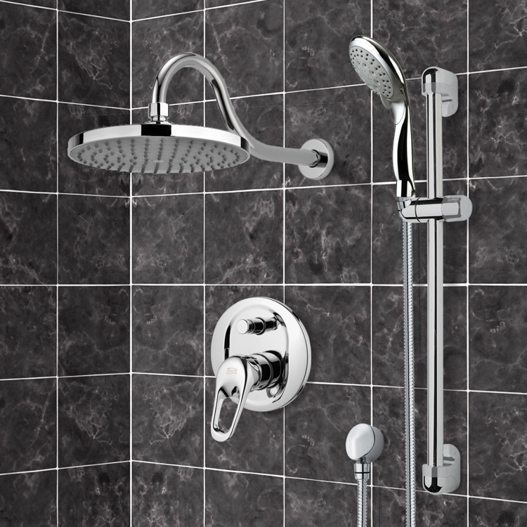 Shower Faucet, Remer SFR7064, Chrome Shower System with 8
