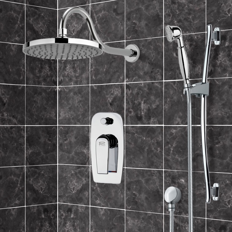 Shower Faucet, Remer SFR7066, Chrome Shower System with 8