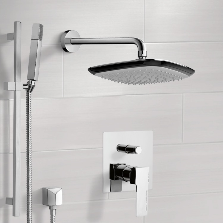 Shower Faucet, Remer SFR7114, Chrome Shower System with 9