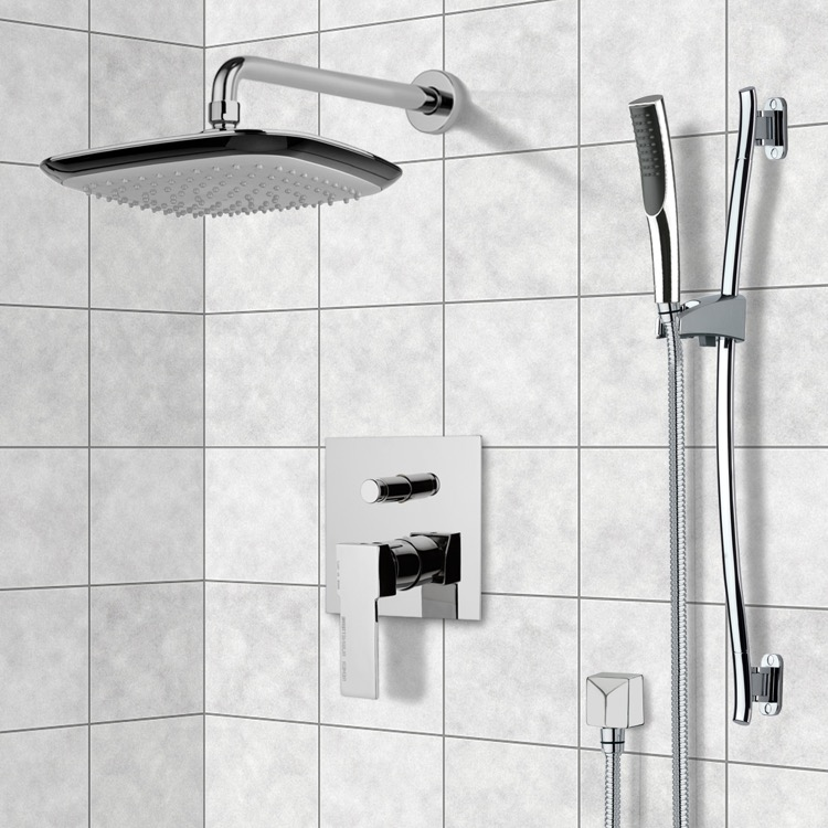 Shower Faucet, Remer SFR7136, Chrome Shower System with 10