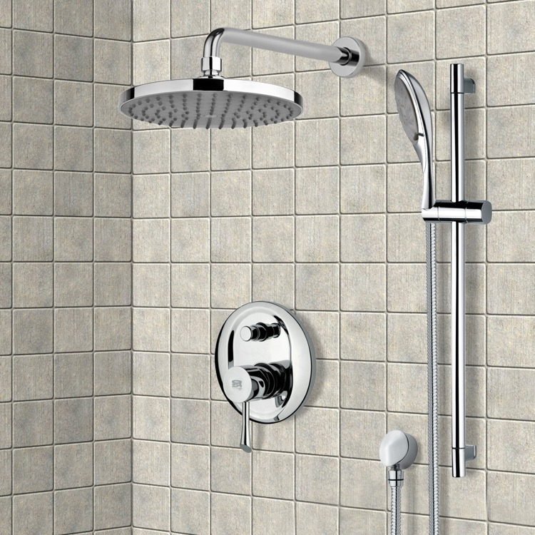 Shower Faucet, Remer SFR7143, Chrome Shower System with 8