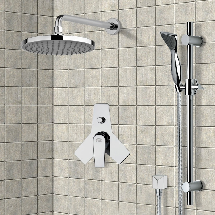 Shower Faucet, Remer SFR7144, Chrome Shower System with 8