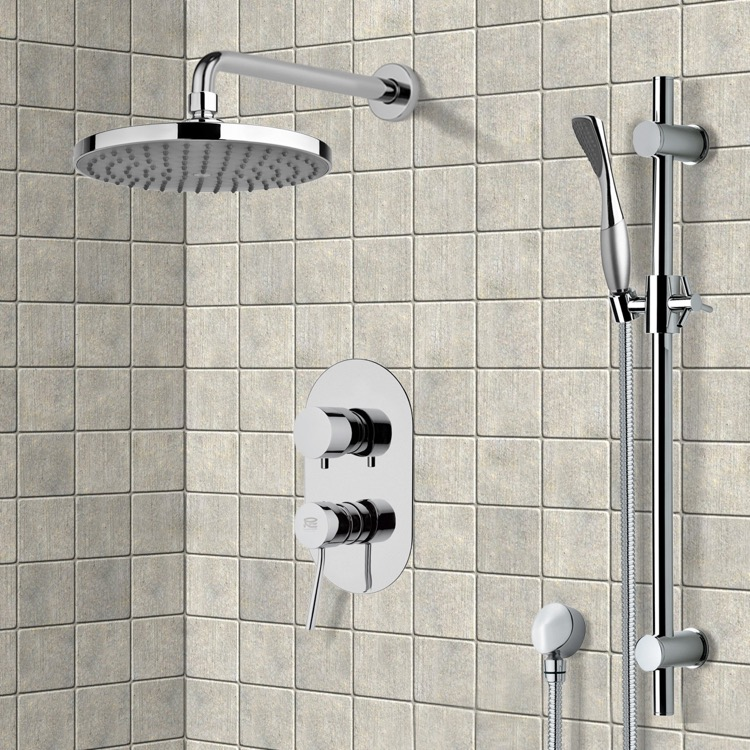 Shower Faucet, Remer SFR7149, Chrome Shower System with 8