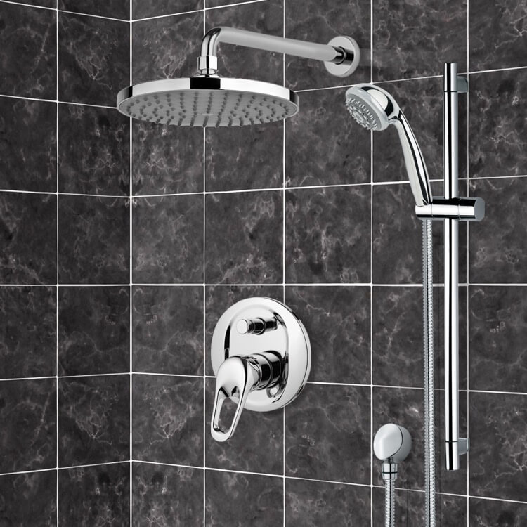 Shower Faucet, Remer SFR7150, Chrome Shower System with 8