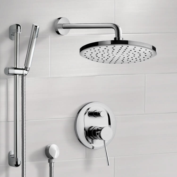 Shower Faucet, Remer SFR7151, Chrome Shower System with 8