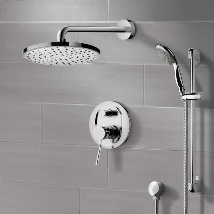 Shower Faucet, Remer SFR7166, Chrome Shower System with 8