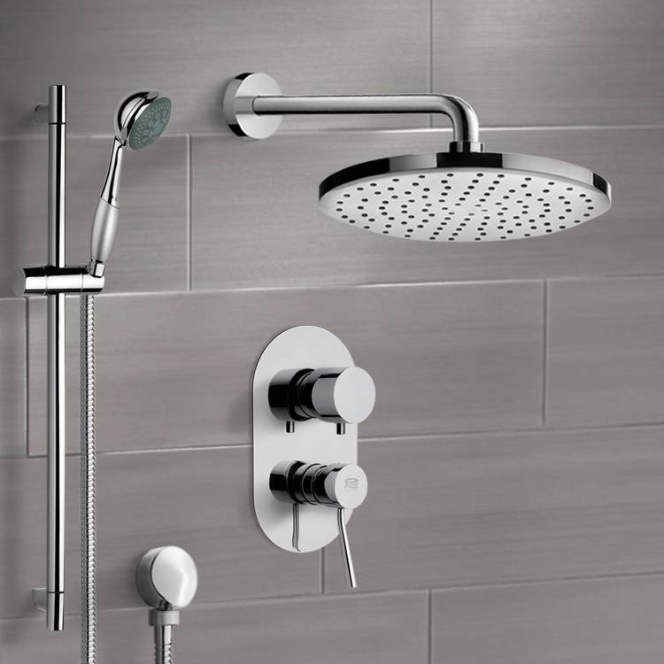 Shower Faucet, Remer SFR7168, Chrome Shower System with 8