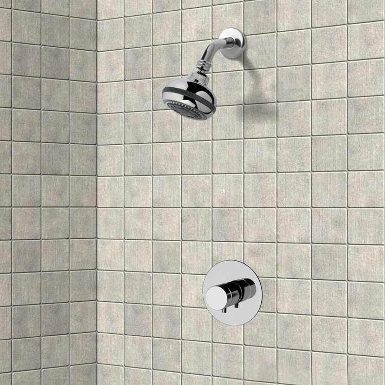 Shower Faucet, Remer SS02, Chrome Thermostatic Shower Faucet Set with Multi Function Shower Head