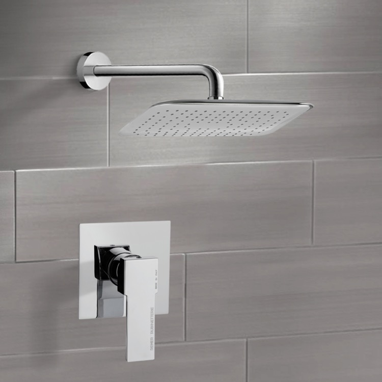 Shower Faucet, Remer SS1012, Chrome Shower Faucet Set with 14
