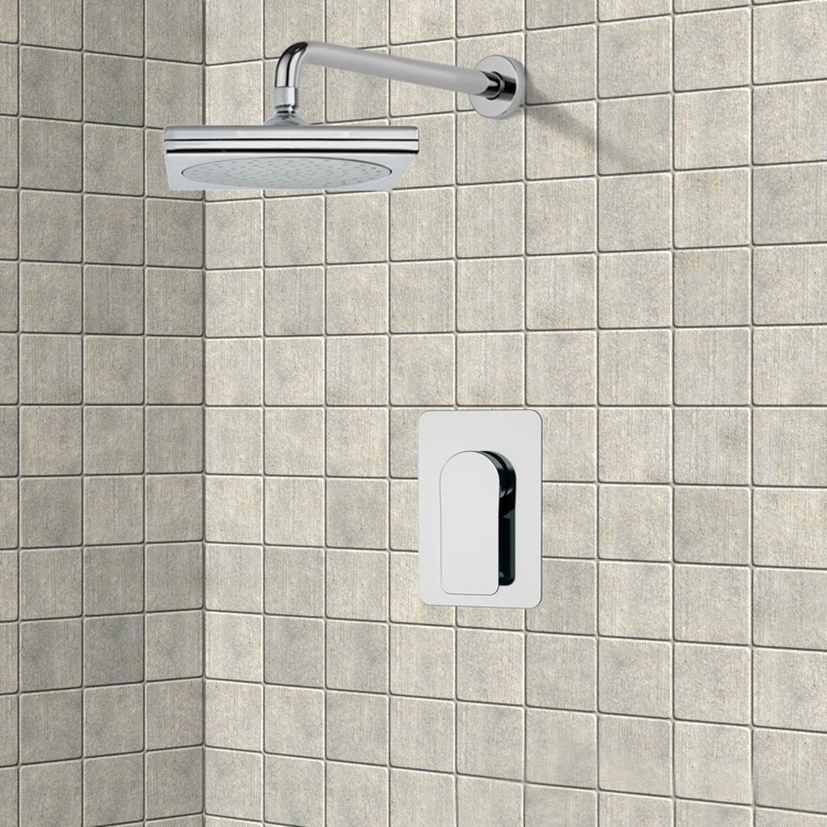 Shower Faucet, Remer SS1015, Chrome Shower Faucet Set with 9