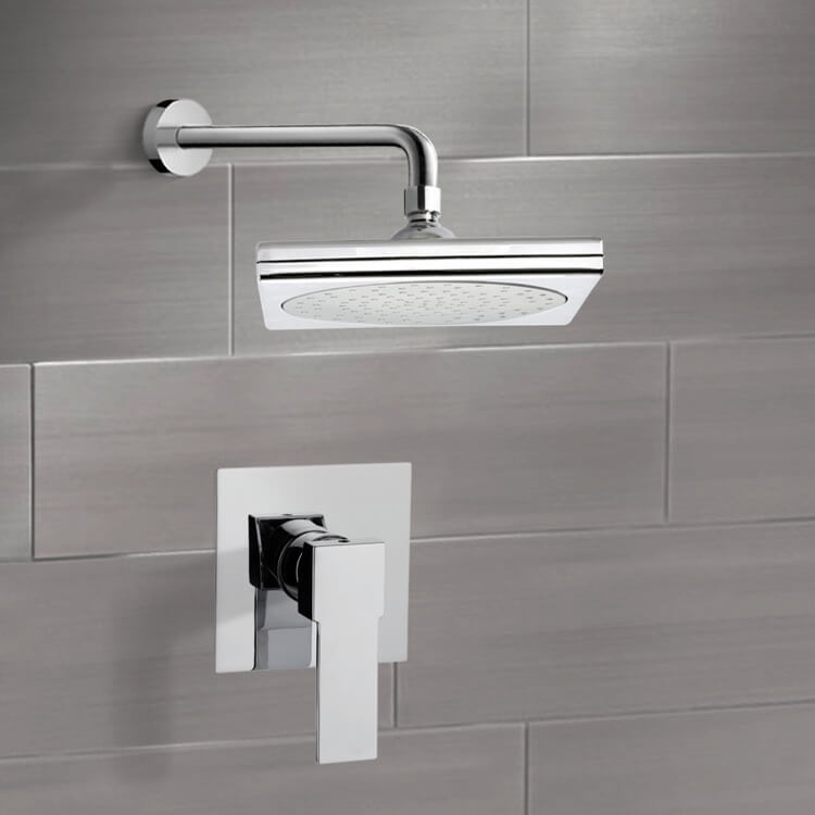 Shower Faucet, Remer SS1017, Chrome Shower Faucet Set with 9