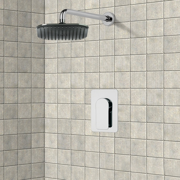 Shower Faucet, Remer SS1023, Chrome Shower Faucet Set with 8