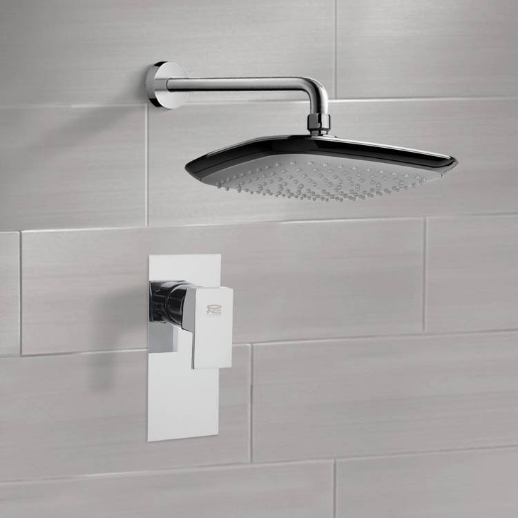 Shower Faucet, Remer SS1160, Chrome Shower Faucet Set with 10