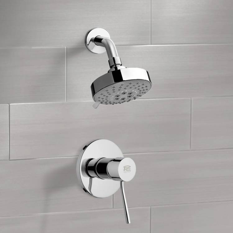 Shower Faucet, Remer SS1203, Chrome Shower Faucet Set with Multi Function Shower Head