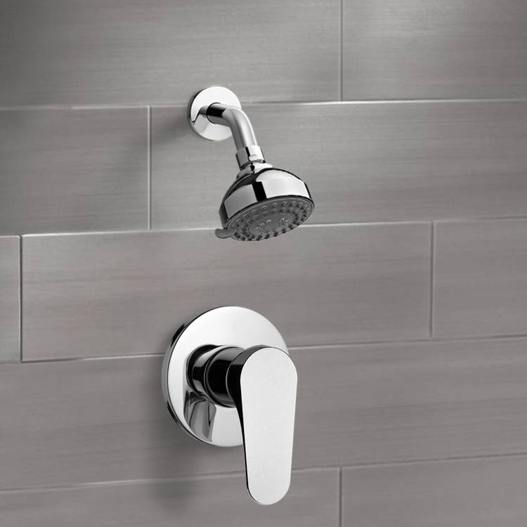 Shower Faucet, Remer SS1205, Chrome Shower Faucet Set with 3