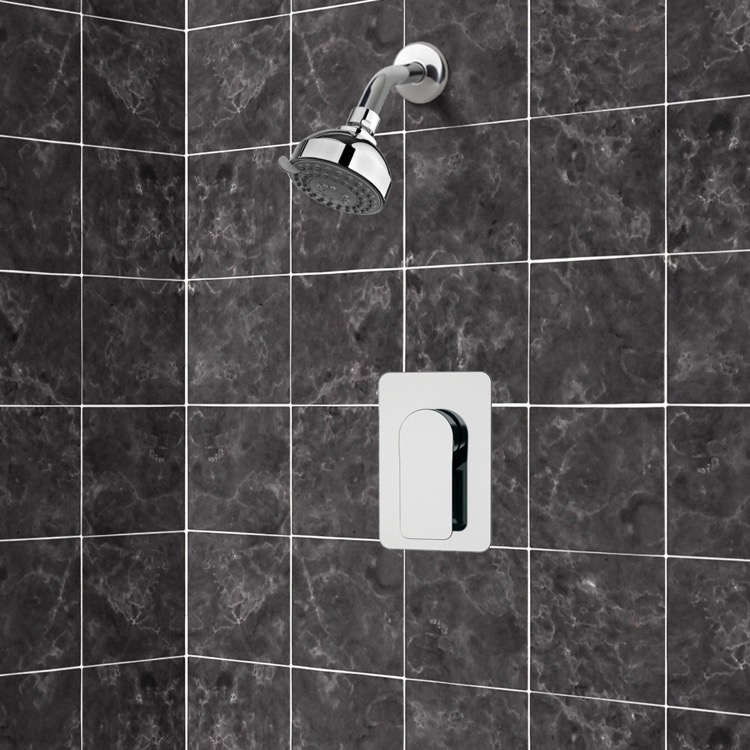 Shower Faucet, Remer SS1207, Chrome Shower Faucet Set with 3