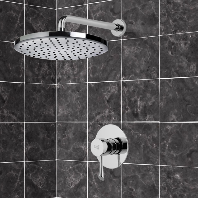 Shower Faucet, Remer SS1240, Chrome Shower Faucet Set with 8
