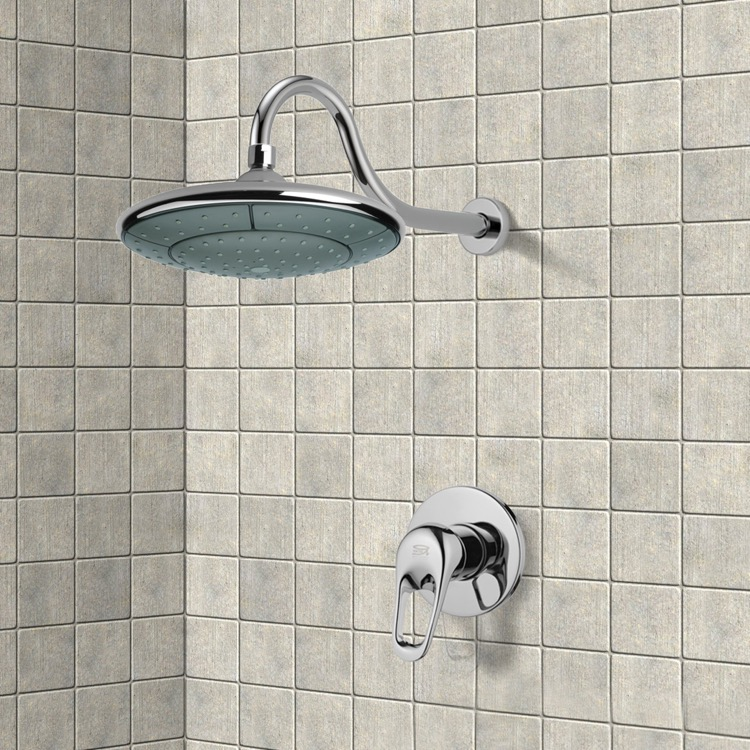 Shower Faucet, Remer SS1283, Chrome Shower Faucet Set with 9