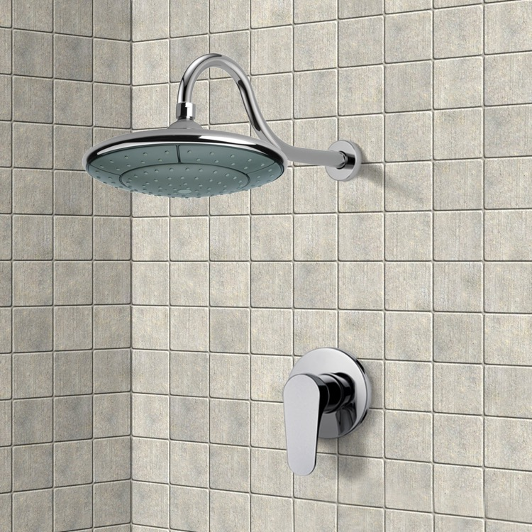 Shower Faucet, Remer SS1284, Chrome Shower Faucet Set with 9