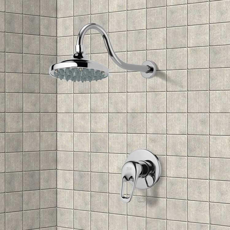 Shower Faucet, Remer SS1287, Chrome Shower Faucet Set with 6