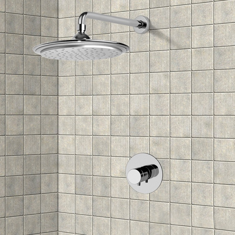 Shower Faucet, Remer SS1407, Chrome Thermostatic Shower Faucet Set with 9