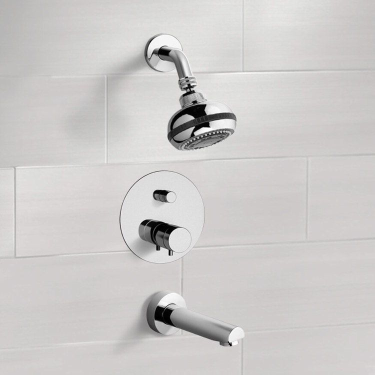 Remer TSF03 Tub and Shower Faucet, Peleo - Nameek\'s