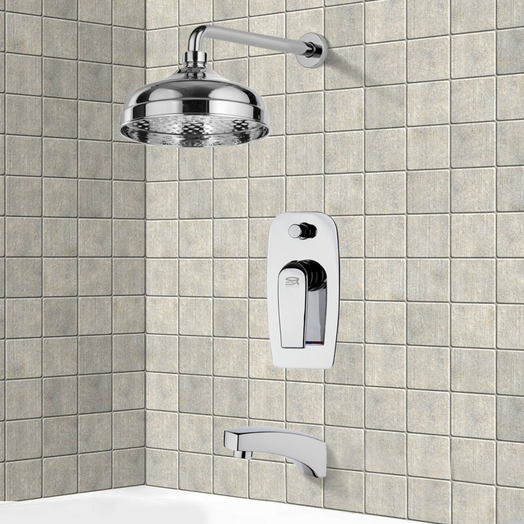 Tub and Shower Faucet, Remer TSF2039, Tub and Shower Faucet Sets with 8