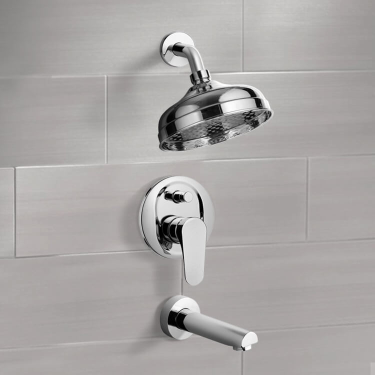Tub and Shower Faucet, Remer TSF2100, Tub and Shower Faucet Sets with 8
