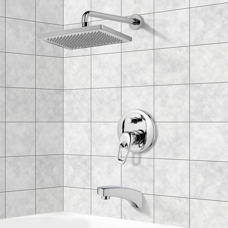 Tub and Shower Faucet, Remer TSF2118, Tub and Shower Faucet Sets with 9.5