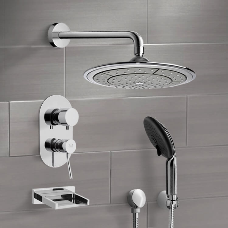 Tub and Shower Faucet, Remer TSH4039, Chrome Tub and Shower System with 9