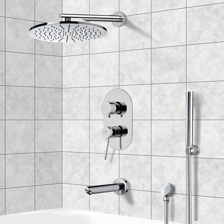Tub and Shower Faucet, Remer TSH4501, Tub and Shower System with 12