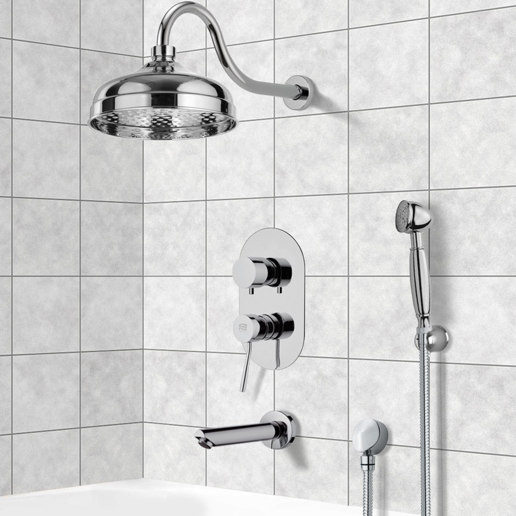 Tub and Shower Faucet, Remer TSH4525, Tub and Shower System with 8