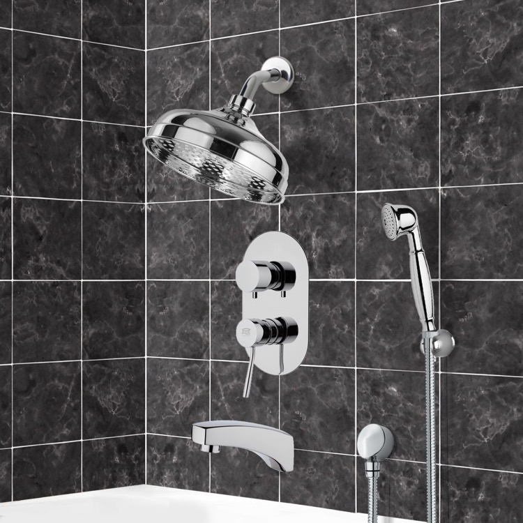 Tub and Shower Faucet, Remer TSH4530, Tub and Shower System with 8