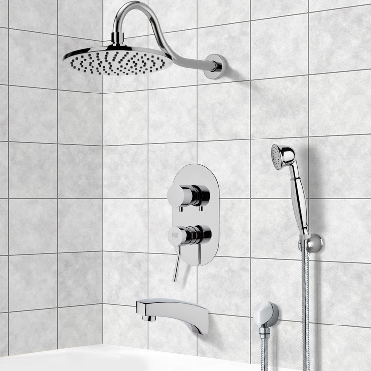 Tub and Shower Faucet, Remer TSH4535, Tub and Shower System with 8