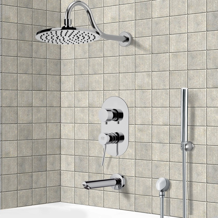 Tub and Shower Faucet, Remer TSH4536, Tub and Shower System with 8