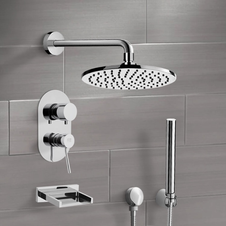 Tub and Shower Faucet, Remer TSH4538, Tub and Shower System with 8