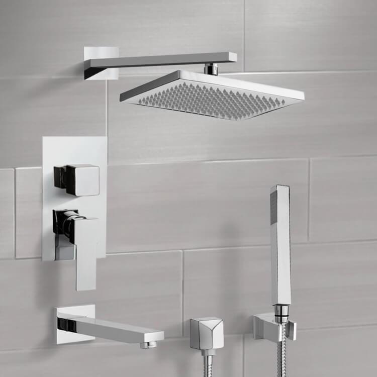 7.5 L x 10 W Remer TSH4094 Tyga Pressure Balance Tub and Shower Faucet