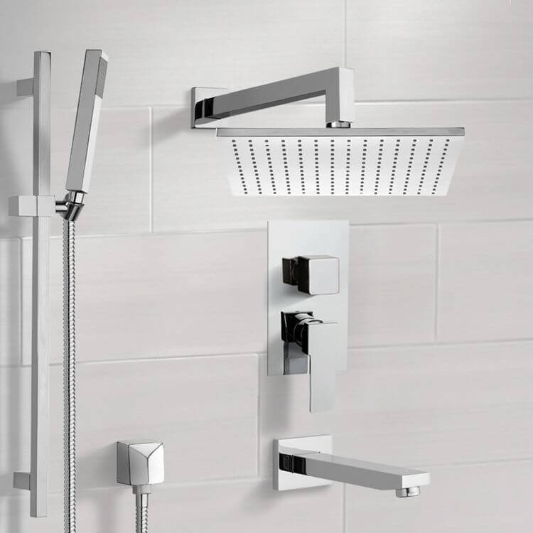 Tub and Shower Faucet, Remer TSR9509, Tub and Shower System with 12