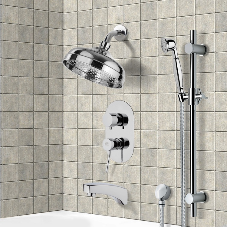 Tub and Shower Faucet, Remer TSR9530, Tub and Shower System with 8