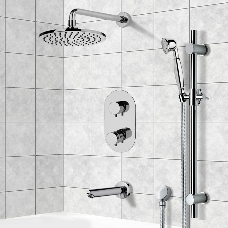 Tub and Shower Faucet, Remer TSR9537, Tub and Shower System with 8