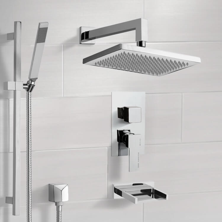 Tub and Shower Faucet, Remer TSR9545, Tub and Shower System with 9.5