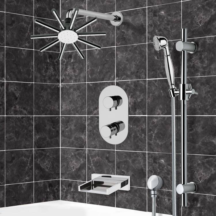 Tub and Shower Faucet, Remer TSR9547, Tub and Shower System with 10