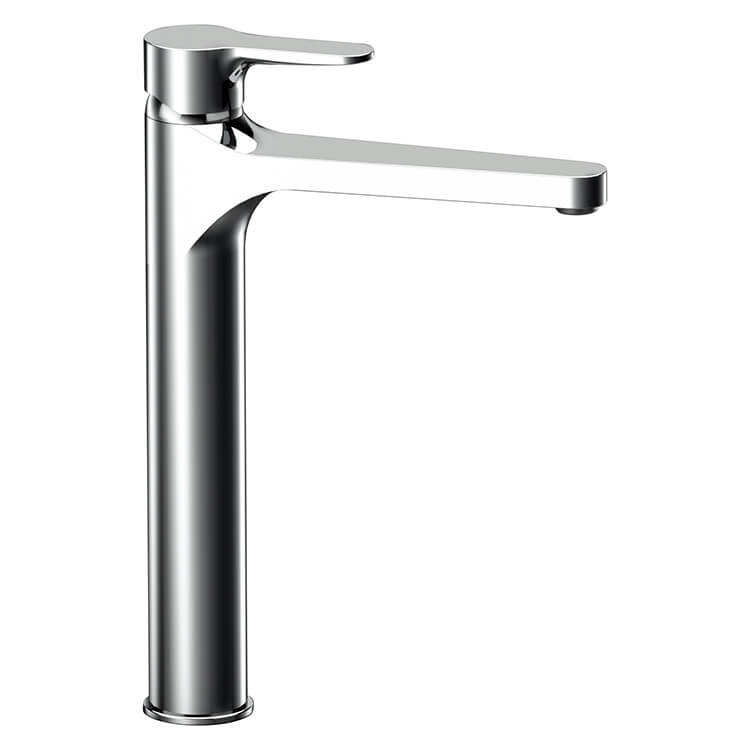 Bathroom Faucet, Remer W10LXLUSNL-CR, Chrome Round Vessel Sink Faucet